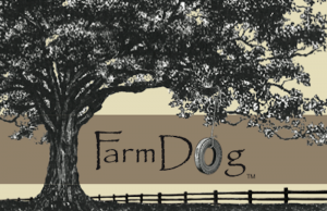farm dog logo stripe