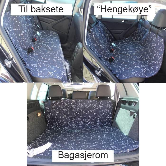 Beskyttelsestrekk til bil hund